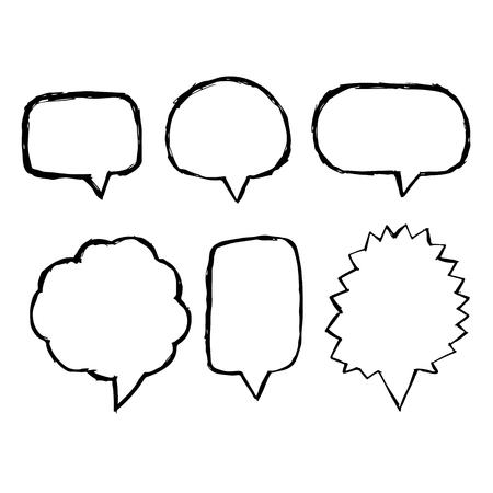 Speech Bubble hand drawn icon Иллюстрация