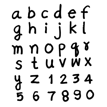 Doodle hand drawn font design