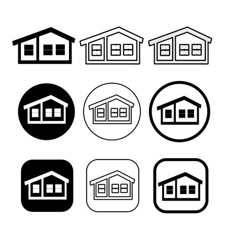 simple house symbol and home icon sign Illustration