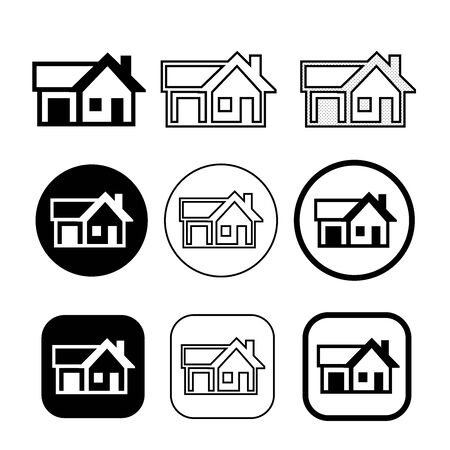 simple house symbol and home icon sign Иллюстрация