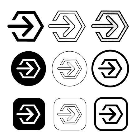 simple Login sign icon sign design Çizim