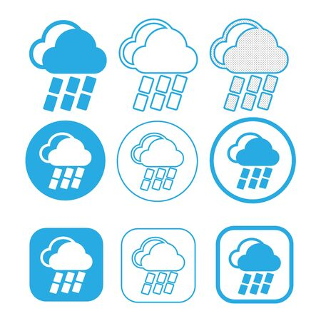 Símbolo de signo de icono de nube simple