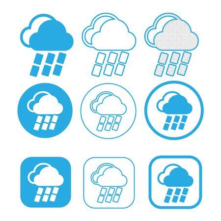 Symbole de signe d'icône nuage simple
