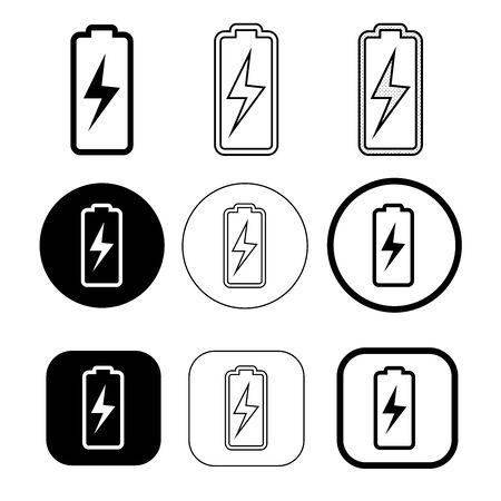 Simple battery icon sign design 向量圖像