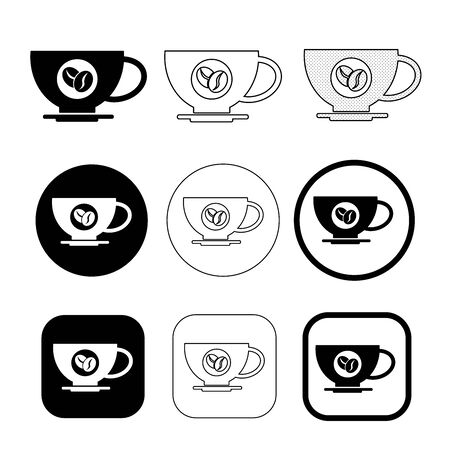 Simple coffee icon sign design Ilustração