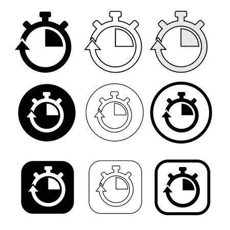 Simple stopwatch icon sign design