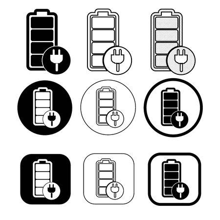 Simple battery icon sign design Ilustração