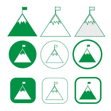 Simple Mountain icon sign design