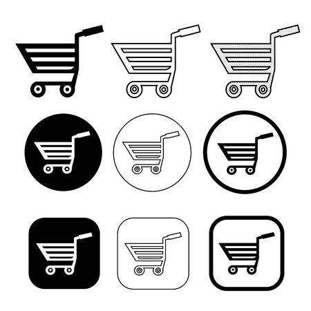 Simple shopping cart trolley icon sign design