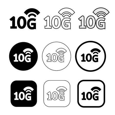 Simple Wireless Wifi icon sign design