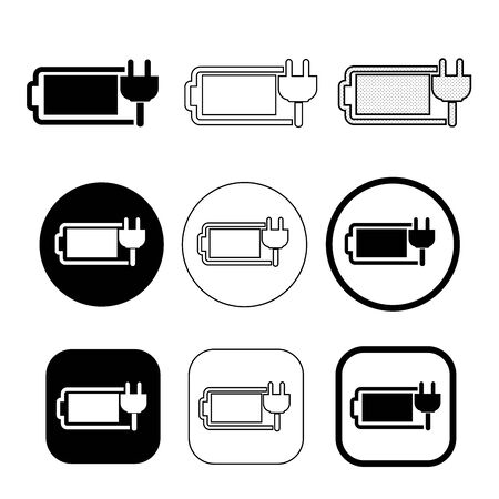 Simple battery icon sign design
