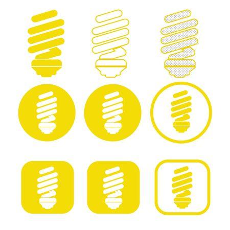 Simple Bulb icon sign design