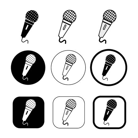 Simple microphone icon sign design