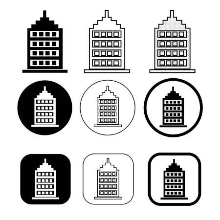 Simple building icon sign design Ilustração