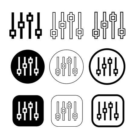Simple control icon sign design Ilustração