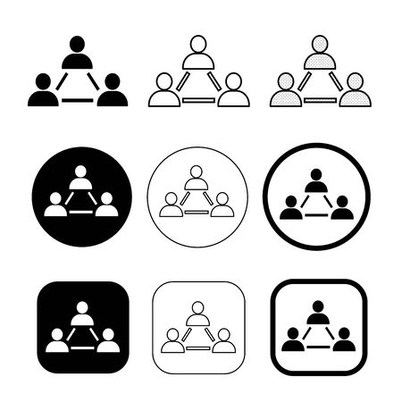 Simple people network icon sign design