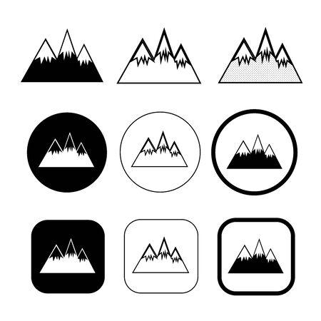 Simple Mountain icon sign design