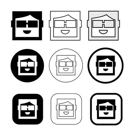 Simple human emotion icon sign design