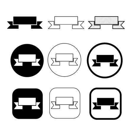 Simple ribbon icon sign design