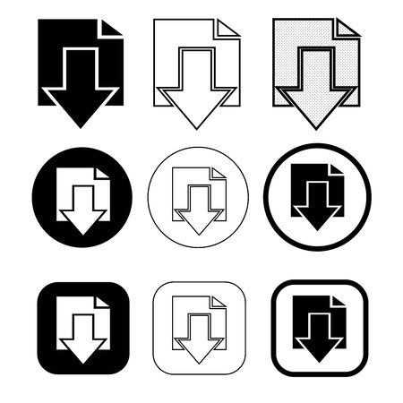 Simple download icon sign design