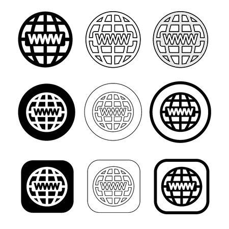 Simple Web Icon sign design