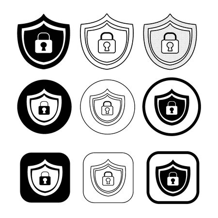 Simple Security icon sign design