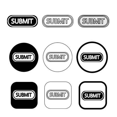 Simple Submit icon sign design Ilustração