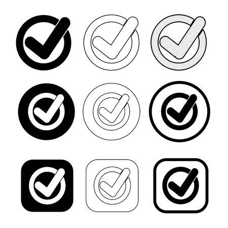 Simple check mark icon sign design
