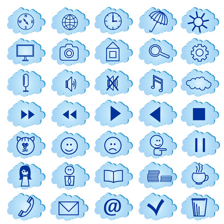 set of badges, icons for a site,  Vector