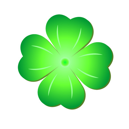 Green Clover, Symbol St. Patrick's Day, Isolated On White Background Stock Vector - 29353495