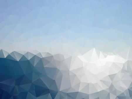 Mosaic, warm sea, blue color