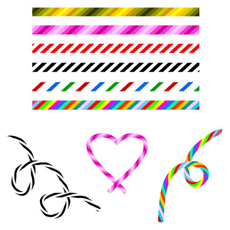 strip structure: set of brushes, color, striped Illustration