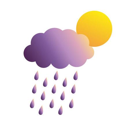 thundercloud: nube temporalesca Vettoriali