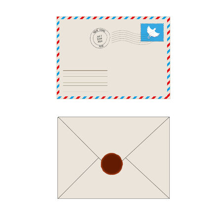 enveloppe ancienne: Enveloppe affranchie avec des timbres isol�s Vieux