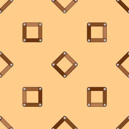 шпон: Аннотация декоративные деревянные полосатый текстурированные геометрических фон. Бесшовные шаблон. Вектор. Иллюстрация