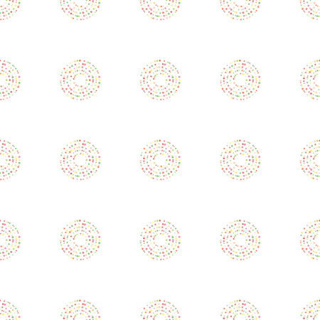frantic: Seamless vector background. colored circles.