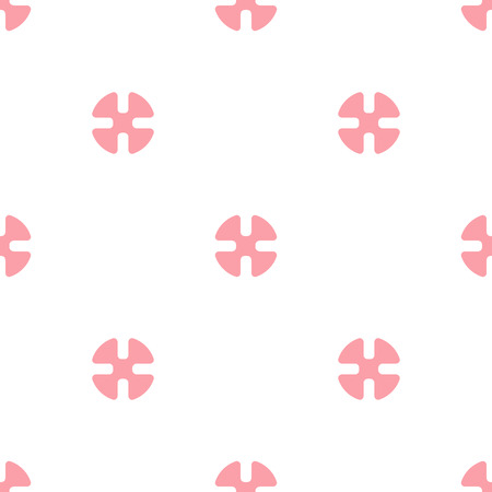 Seamless vector background. little pink elements on a white background.