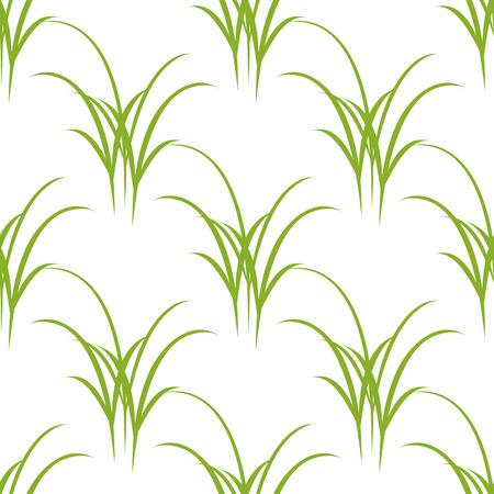 springing: Seamless texture of grass. Vector,