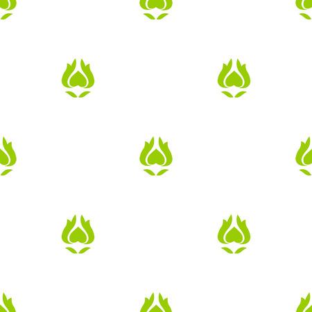 springing: Seamless pattern of green flower. Vector illustration.  Illustration