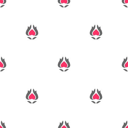 springing: Seamless pattern gray pink . Vector illustration.