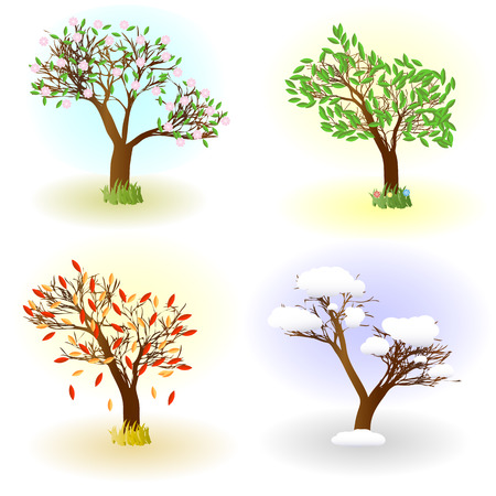 Four seasons of love Vector