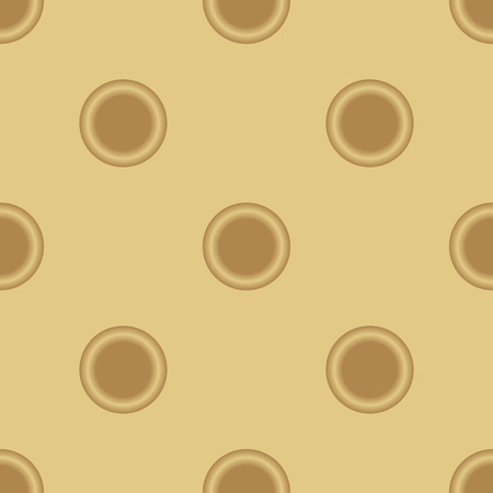 convex shape: Seamless orange vector background.