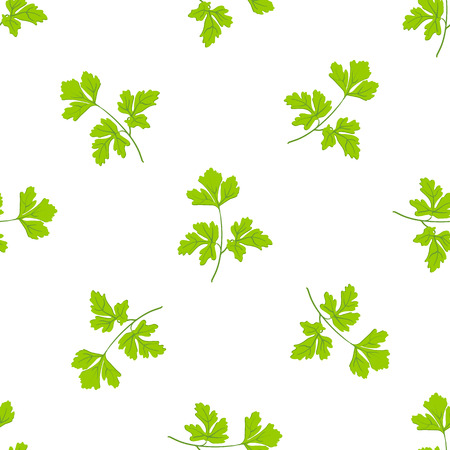 seamless grass background, parsley green leaves on the white background. eps 10 Vector