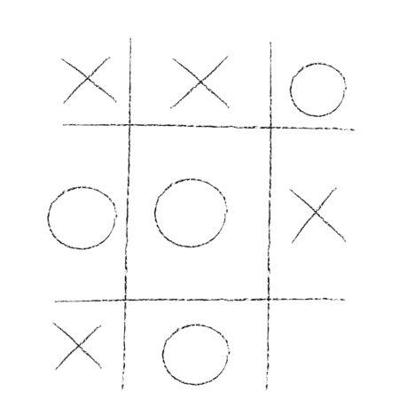 doodle tic tac toe XO game.