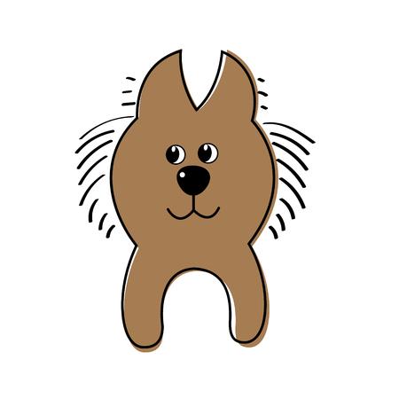 perro asustado: Ilustraci�n vectorial de un perro. Vectores
