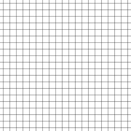 ベクターのシームレスなパターン ペーパー練習帳セルに。テクスチャ ノートのシート。