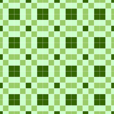 notelet: Seamless background in the green cell. eps 10 Illustration