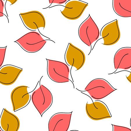 Naadloze blad patroon. eps 10
