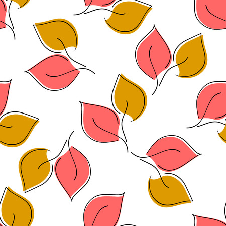 Seamless leaf pattern. eps 10 Illustration