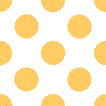 crackers: Seamless illustration  cookies crackers.